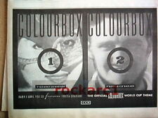 COLOURBOX Baby I Love You So 1986 UK Press ADVERT 12x8 inches