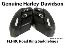 OEM Harley Davidson FLHRC Road King Classic Touring Hard Leather Saddlebags USA