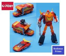 Transformers Autobot G1 Style Robot Toy - Rodimus Prime with Trailer