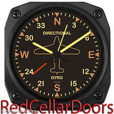 "New TRINTEC Alarm Clock Vintage Directional Gyro Travel Alarm DM62V Pilots 3.5"""