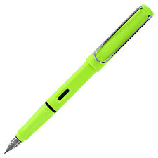 Lamy Safari Neon Lime Fountain Pen, Fine Nib (L43F)