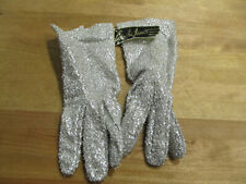 Vintage Cornelia James Pair Silver Gloves Size 7, Made In England