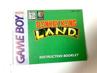 Donkey Kong Land Nintendo Game Boy Instruction Booklet Manual Only