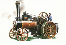 STEAM TRACTION ENGINES  Postcard Set of 4  Burrell Fowler Road Roller Locomotive