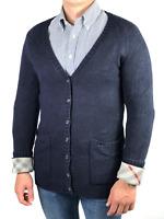 BURBERRY BRIT men's black cashmere cardigan sweater | Size S (fit on M)
