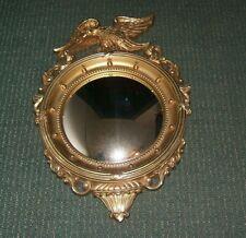 "Vintage 21"" Syroco Round Mirror Eagle Federal Style Convex Bulls Eye #4007 Rare!"
