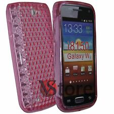 Cover for SAMSUNG GALAXY W i8150 Fuchsia Silicone
