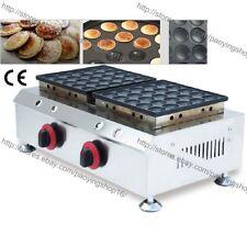 Nonstick LPG Gas 50pcs Poffertjes Mini Dutch Pancake Maker Grill Baker Machine