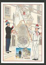 Monaco 1997 le Prince Rainier III tenue d'hiver et d'été  carte maximum/T107