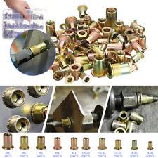 300pcs Zinc Steel Rivet Nut Kit Rivnut Nutsert Assort 150pcs Metric150pcs Sae
