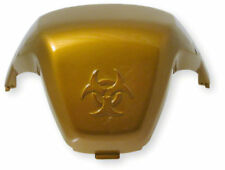 Bench Fancy Dress Seat Cover in Yellow Metallic Gold for Peugeot Speedfight