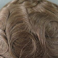 Undetectable Full Lace Hair Replacement System Mens Toupee Hairpieces for Men #4