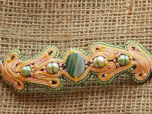 Soutache Bracelet with Agate