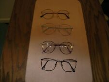4 Eyeglasses Vintage Retro Nos Metal frames all p3 shape,