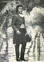 Opera - Autografo del baritono Lorenzo Saccomani (Milano, 1938)