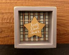 BEST DAD EVER shadow-box style wooden box sign 3-1/2 x 3-1/2 Primitives by Kathy
