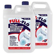 10L FULL-FLO Toilet Macerator Descaler Cleaner Pump Septic Tank – Saniflo Safe