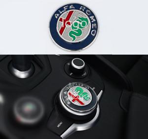 For Alfa Romeo Giulia 2017 2018 Aluminum Central Control Knob Decor Cover Trim