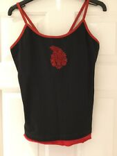 Lucy P Clothes That Pose Yoga Vest Cami Top Black And Red Size L BNWT