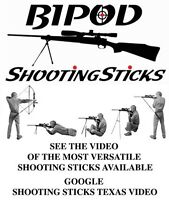 Bipod Shooting Stick - Loop top for maximum versatility - for your crossbow
