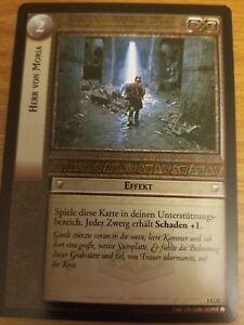 Lord of the Rings CCG Fellowship 1C21 Lord of Moria GERMAN LOTR TCG