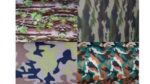 Neoprenstoff Stoff  Meterware wasserdichter camouflage schwarz 4 Tarnmuster