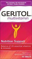 Geritol Multi-Vitamin Nutrit. Support Tabs, Balance of 26 vits & minerals, 40 Ct