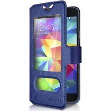 Housse Etui S-View Universel XL Couleur Bleu pour Meizu MX6