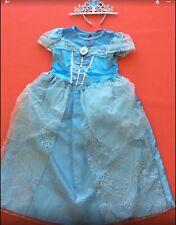 Disney Princess Cinderella Costume Dress Up age 8-9 Years With Tiara