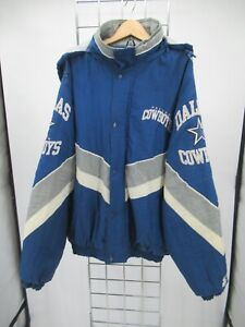 K9120 VTG Starter NFL Dallas Cowboys Full-Zip Windbreaker Jacket Size XL