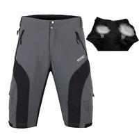 Loose Mens Bike Bicycle Shorts Detachable 3D Padded MTB Cycling Half Pants M-3XL