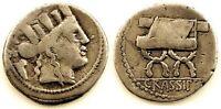 Republica Romana-Furia. Denario. 84 a.C. Roma. Plata 3,7 g. Escasa