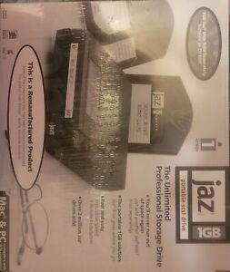 Iomega Jaz Portable 1GB SCSI Drive V1000S Vintage Computer Refurbished Sealed