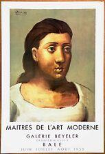 Picasso Maitres De L'art Galerie Beyeler Original Exhibition Lithograph 1955