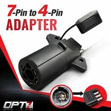 OPT7 7-Pin to 4 Way Adapter Tow Hitch Flat Blade Trailer Plug Connector RAM RV