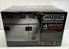 Waring Commercial 4 Slice Toaster Wct708 Medium-Duty Brushed Stainless Steel