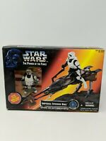 Star Wars Power Of The Force Imperial Speeder Bike with Biker Scout Figure 1995