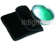 77mm Graduated Green Color Lens Glass Filter Screw-in Half Green Half Clear New