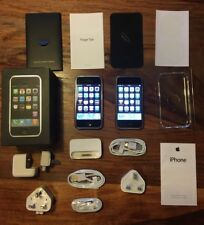 2 x 8GB iPhone 2G 1st Generation. 1 Original Box, Accessories Matching IMEI