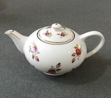 Lord Nelson Pottery England Genuine Ironstone 2 Cup Teapot 3754 Roses Gold Trim