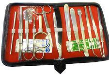 Kit de dissection de base pour les étudiants Lab Kit 14 instruments + 2 lames Chirurgical Vétérinaire