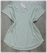 NEU! 20�'� - ESPRIT - Luftiges oversize Ringel-Shirt Leinenmix Mint Wei�Ÿ XXL 44