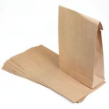 50 Brown Paper Lunch Snacks Bags Kraft Paper
