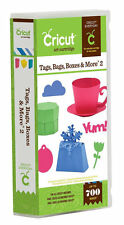 CRICUT *TAGS, BAGS, BOXES & MORE 2* CARTRIDGE *NEW* ALL OCCASION CARDS PHRASES