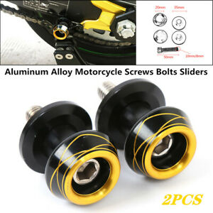 2X Motorcycle Parking Swingarm Spools Slider Stand Screws Bolts Protector Part