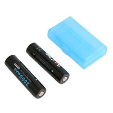 2x Protected 18650 3600mAh Li-Ion Rechargeable Battery + Case for SoShine LO