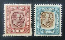 nystamps Iceland Stamp # 81,83 Mint Og H $40 J15y904