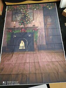 Christmas Photo Photography Props Background table Cloth Vinyl Backdrop Studio