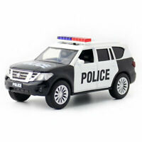 Nissan Patrol Y62 SUV 1:36 Police Model Car Gift Diecast Toy Vehicle Kids Black
