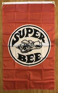 Dodge Super Bee Charger Logo 3X5 Garage Wall Banner Flag Man Cave FREE SHIPPING